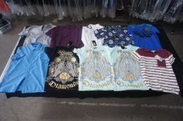 10 x Various designer long / short sleeve shirts, and T-shirts, S