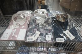 9 x Various packaged Marco Alexander slim fit designer shirts, L