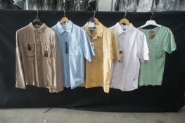 5 x Various shirts, to include 1 x long sleeve, 3 x short sleeve, and 1 x T-shirt, L