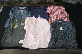 6 x Various designer T-shirts, shirts, and long sleeve shirts, XXXL