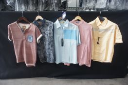 5 x Various shirts and T-shirts, to include 2 x long sleeve, and 2 x short sleeve, M
