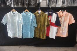 5 x Various designed short sleeve shirts, XL