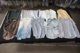 10 x Various long sleeve designer shirts, M