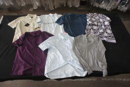 7 x Various designer T-shirts, shirts, and short sleeve shirts, S