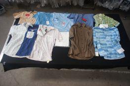 10 x Various long and short sleeve designer shirts, L