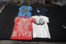 4 x Various designer T-shirts, M