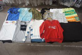 10 x Various designer T-shirts, jumpers, M