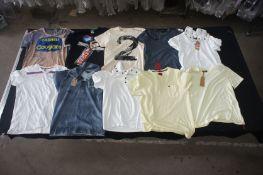 10 x Various designer T-shirts, M