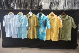 6 x Various short sleeve shirts, L