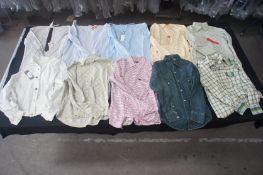 10 x Various designer long sleeve shirts, M