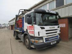Scania P230 4x2 skip loader Reg: BN11 XVG Mileage: 524,812 kms MOT: 30 June 2022 DOR: 2 March 2011