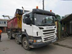 Scania P360 hook loader Reg: PO14 VKX Mileage: 285,652 kms MOT: Expired (31 July 2021) DOR: 1 May