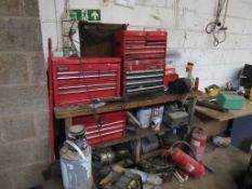 Quantity of assorted toolboxes, as lotted