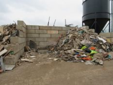 Approx. 60 concrete Lego blocks (Currently supporting waste carpet, not all blocks may be able to be
