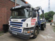 Scania P230 4x2 skip loader Reg: BX58 EOS Mileage: 544,997 kms MOT: 30 September 2021 DOR: 5