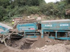 Powerscreen 511 tracked screener, motor hours 3,620.8, Tracks not currently operational