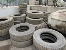 Quantity of tyres & wheels, as lotted