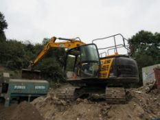 JCB JS131LC+ 360° tracked excavator, year 2018, PIN JCBJS13GEJ2442554, with all weather cab (Missing