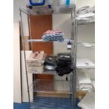Two Chrome Wire Shelving Units (excludes contents)
