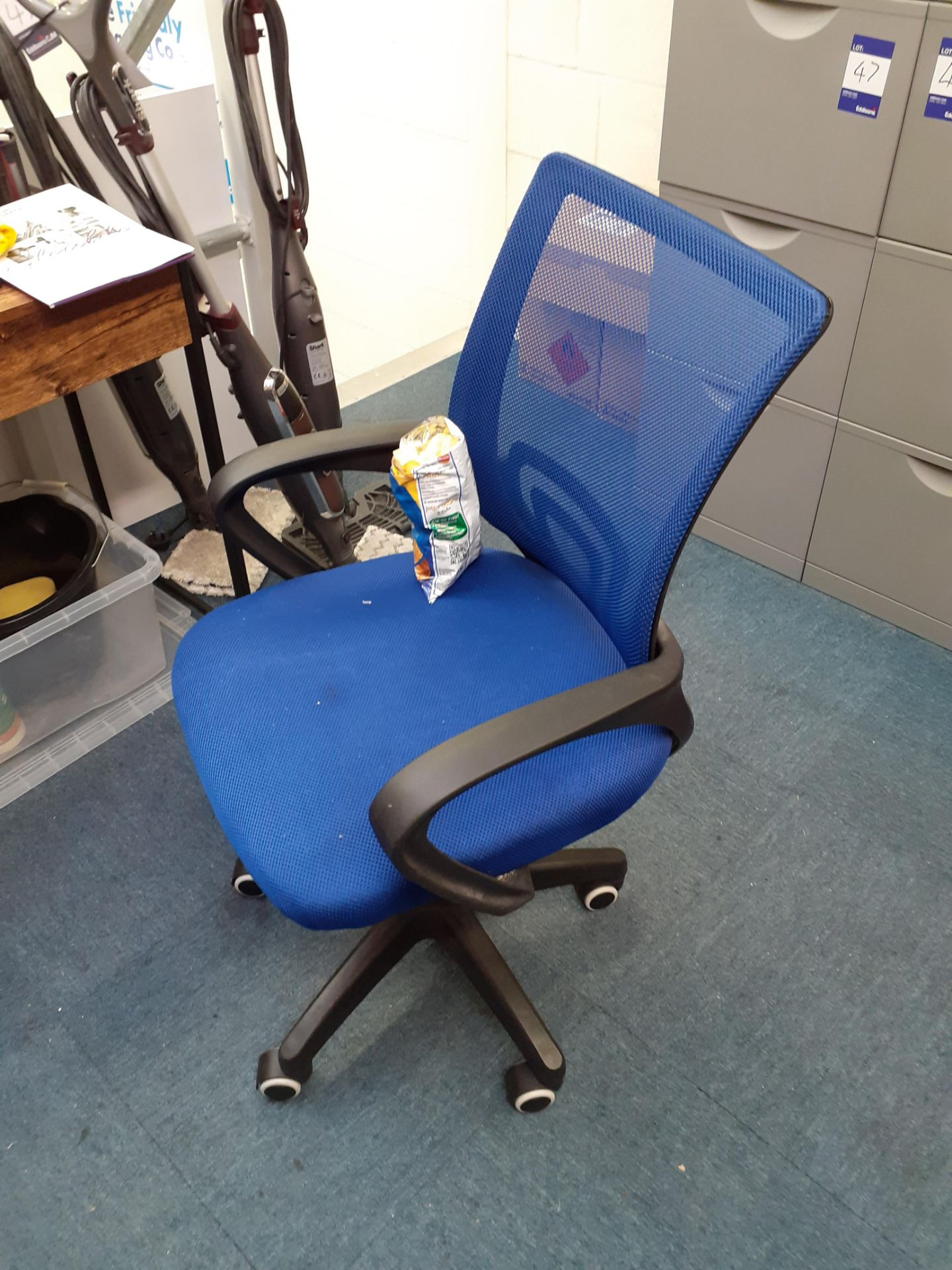 Two Timber Effect Desks and Office Chair - Image 3 of 3