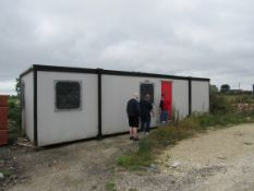 Portacabin, office unit, damaged floor, Size 10.24 x 3.26 x 2.57m, Serial Number 3423843. (Located