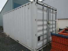 Shipping container, 20ft, 2005, containing assorted tools. (Located Skiff Lane, Holme Upon