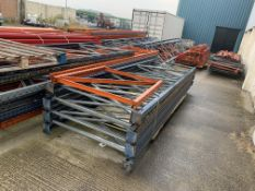 Large quantity of pallet racking comprising 39 End