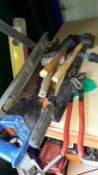Small Quantity of Hand Tools to include Saws, Mallets etc. (Located at 30-36 Fisherton Street,