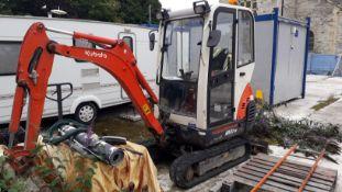 Kubota KX41-3V Mini Excavator, Model 801150, 821 Hours, Serial Number 5614783 with 900mm Bucket