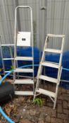 2 Various Aluminium Step Ladders. (Located at 30-36 Fisherton Street, Salisbury, SP2 7TL)