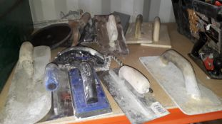 Quantity of Plastering and Cement Trowels. (Located at 30-36 Fisherton Street, Salisbury, SP2 7TL)
