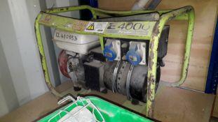 Prama E4000 Power Systems Petrol Generator. (Located at 30-36 Fisherton Street, Salisbury, SP2 7TL)