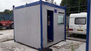 8ft Cube Modular Steel Framed Site Cabin. (Located at 30-36 Fisherton Street, Salisbury, SP2 7TL)