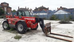 The Assets of a Building Contractors to include Manitou, Excavator, Site Cabins & Welfare Units
