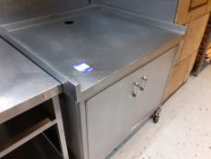 Stainless Steel Mobile Double Door Cupboard Counter Unit, 1020 x 920mm, Located at 14 Leicester