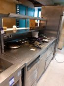 Stainless Steel Counter Section 2000 x 800mm with Gantry Over, Located at 14 Leicester Square,