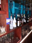 Contents of Back Bar to include Glassware & Part Bottles of Spirits & Liquors, Located at 14