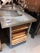 Stainless Steel Food Preparation Table 960 x 750mm with Tray Shelving Under and Stainless Steel 8