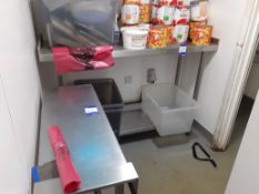 Stainless Steel Food Preparation Table 1470 x 500mm and Stainless Steel Infill Table Section,