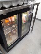Gamko MG2/250SD Sliding Door Under Counter Display Chiller and Contents of Various Wines, Located at