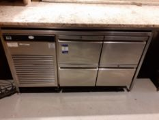Foster Eco Pro G2 Stainless Steel 4 Drawer Undercounter Refrigerator, Located at 14 Leicester