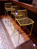 3 Wire Bar Stools, Located at 14 Leicester Square, London WC2H 7NG