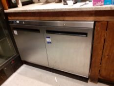Williams HA280 SA R2 Stainless Steel Double Door Undercounter Refrigerator, Located at 14