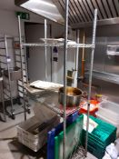 Chrome Wire Three Tier Shelving Unit 1800mm, Located at 14 Leicester Square, London WC2H 7NG