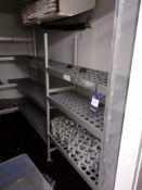 The Aluminium Shelving Units to Coldroom's as lotted, Located at 14 Leicester Square, London WC2H
