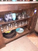 Contents of Shelves to include Teapots, Trays & Crockery, Located at 14 Leicester Square, London