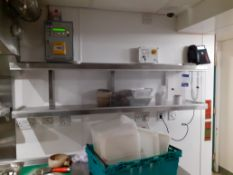 Stainless Steel & Perspex Wall Mount Cabinet, 1500 x 360mm, Located at 14 Leicester Square, London