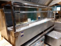 Stainless Steel Barbecue Pit 2,400 x 450mm on Stand, Located at 14 Leicester Square, London WC2H