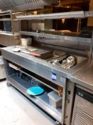 Stainless Steel Mobile Counter Section with Heated Gantry Over, Hot Food Display Section & Storage