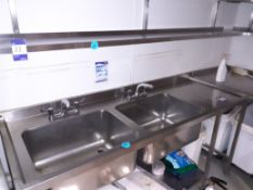 Stainless Steel Double Door Deep Sink (Disconnection required by qualified tradesperson), Located at